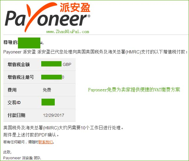 Payoneer免费为卖家提供便捷的VAT缴费方案