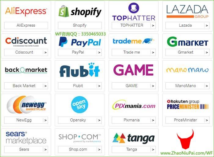 万里汇WorldFirst可以收款这些电商平台(部分)